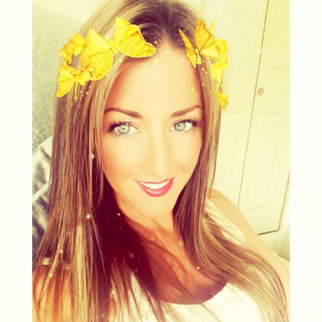 LongTime  Snapchat Filter Butterflies Golden Smile
