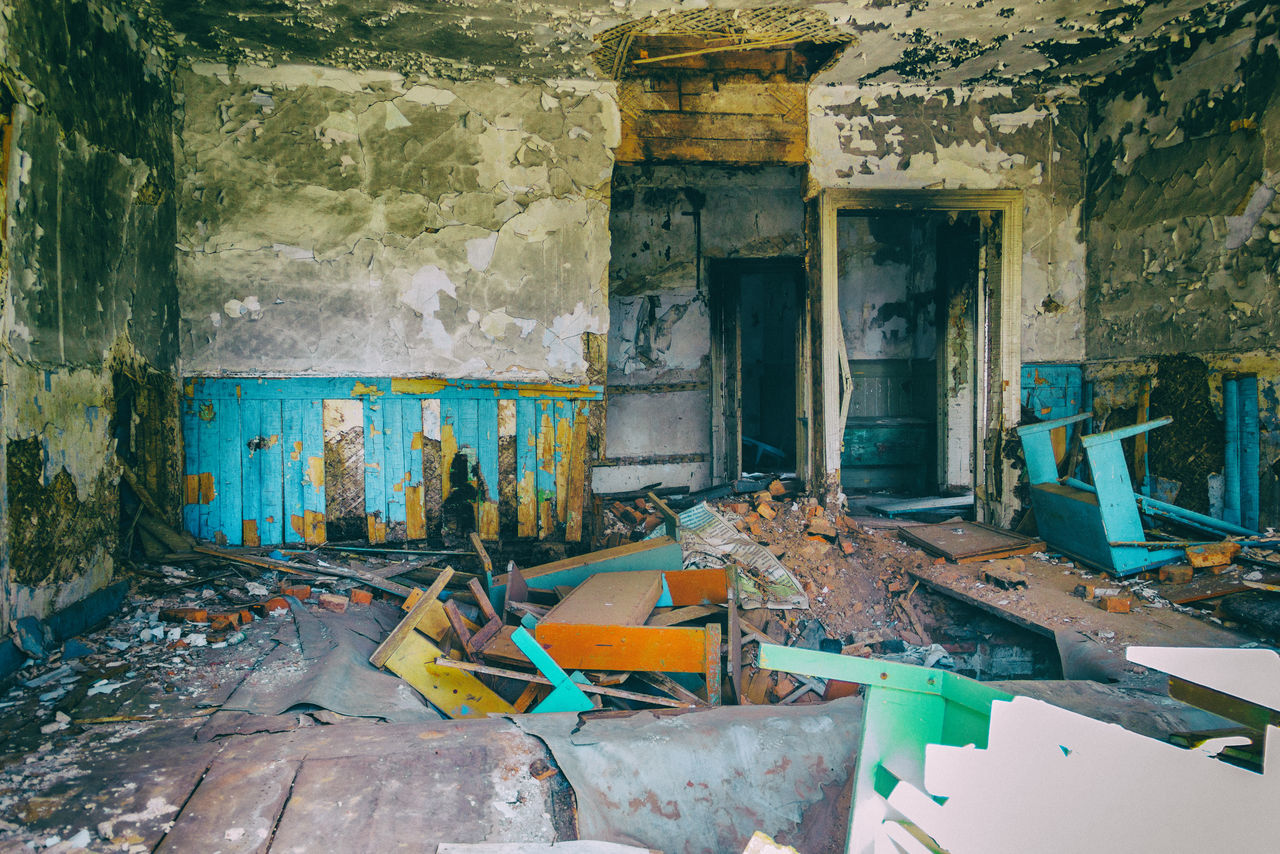 One of the rooms of an abandoned medical sanatorium. In the 20th century, the sanatorium was used as a treatment sanatorium and summer camp. Abandoned Architecture Building Exterior Built Structure Damaged Destruction No People Outdoors Room Sanatorium