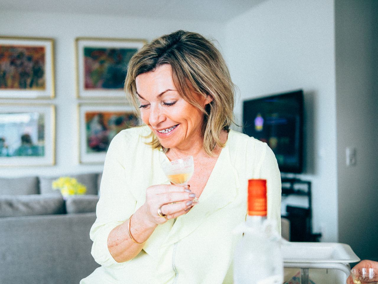 Beautiful stock photos of wein, only women, adults only, smiling, one woman only