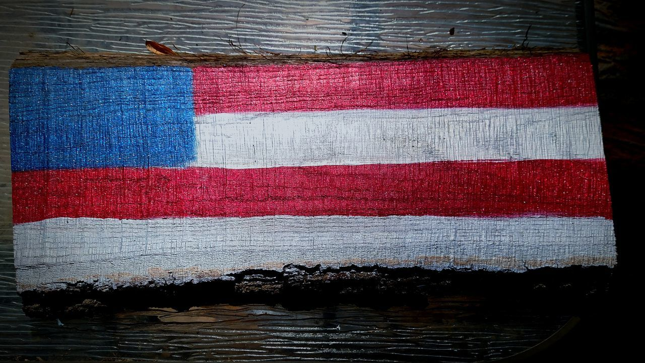 Patriotism No People Flag Outdoors EyeEmbestshots EyeEm Gallery American Daughter Handmadewithlove Unfinished United States Proud Gift Tree