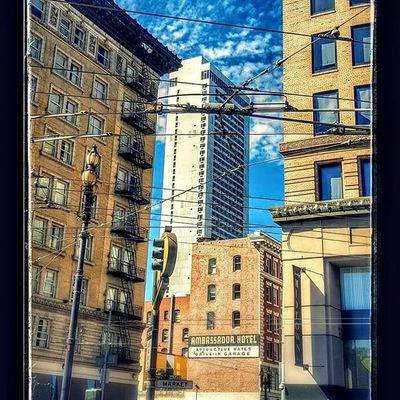 Blue sky in my favorite city Sanfrancisco SF SFP Cables wire electric touring