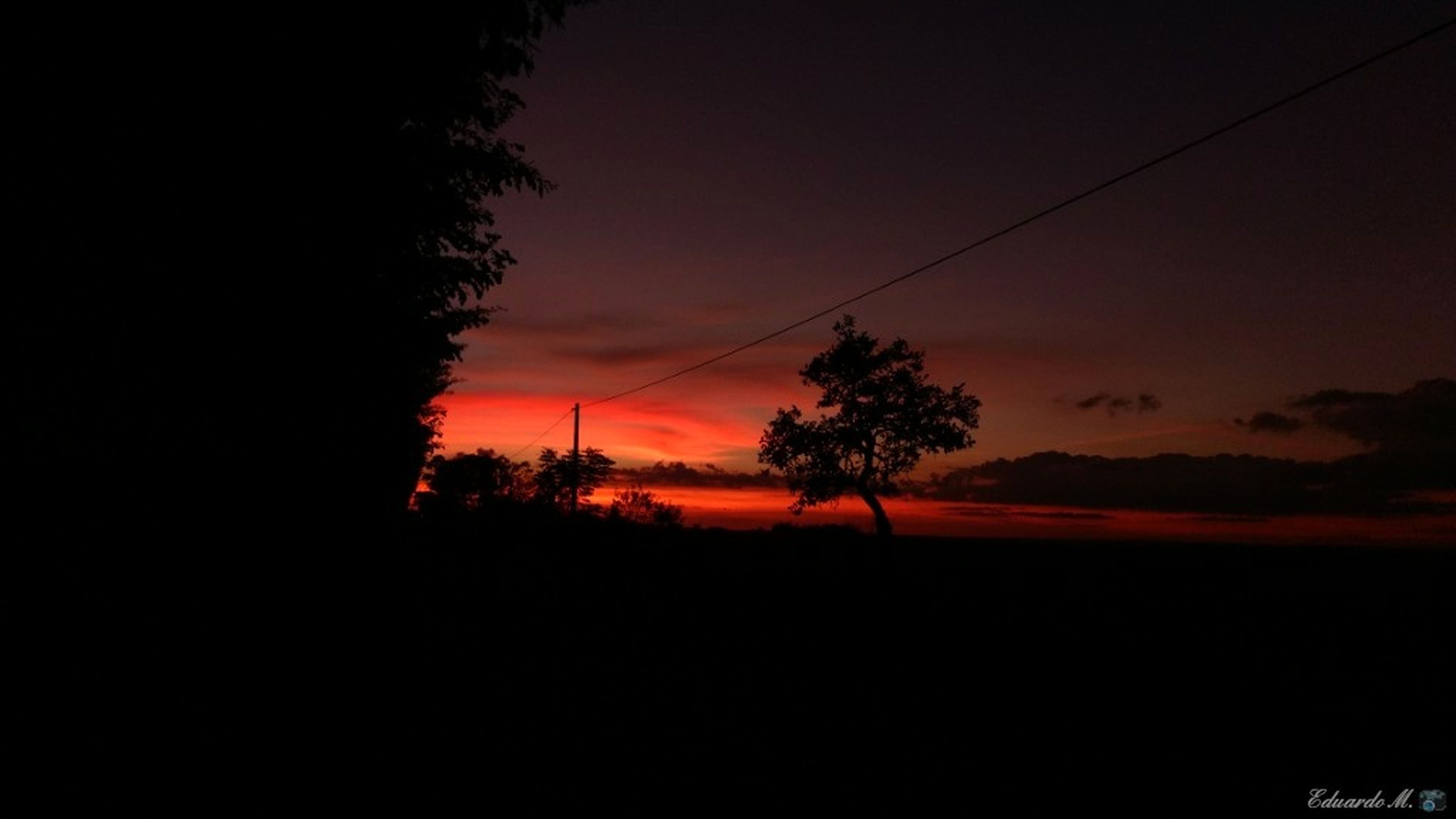 sunset, silhouette, tree, nature, dark, sky, landscape, scenics, beauty in nature, no people, clear sky, outdoors