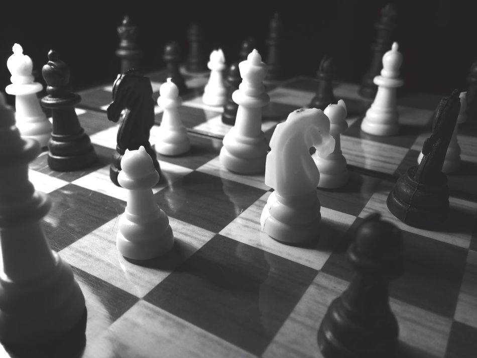 Strategy Chess Chess Piece Chess Board Close-up Leisure Games Challenge Knight - Chess Piece Indoors  No People Large Group Of Objects Pawn - Chess Piece Competition Queen - Chess Piece King - Chess Piece Day Strategic Strategy Game Games Black & White Queen Table Game