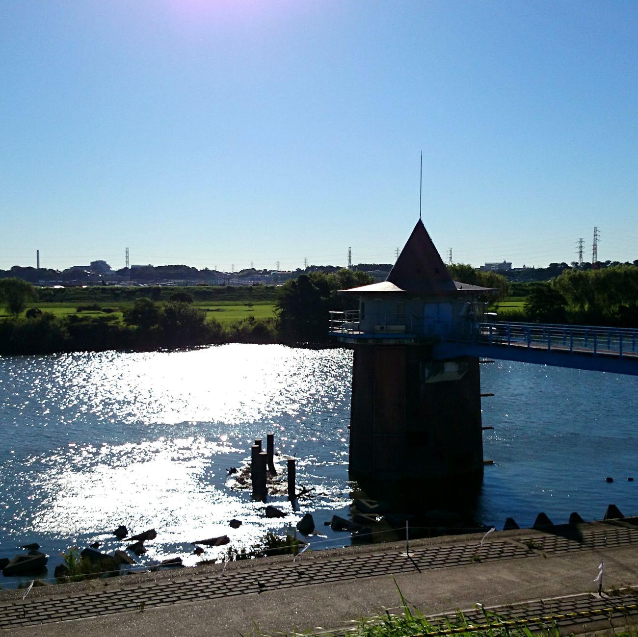 Good Morning ☺ Morning Ride  Mobilephotography Riverside Blue Sky