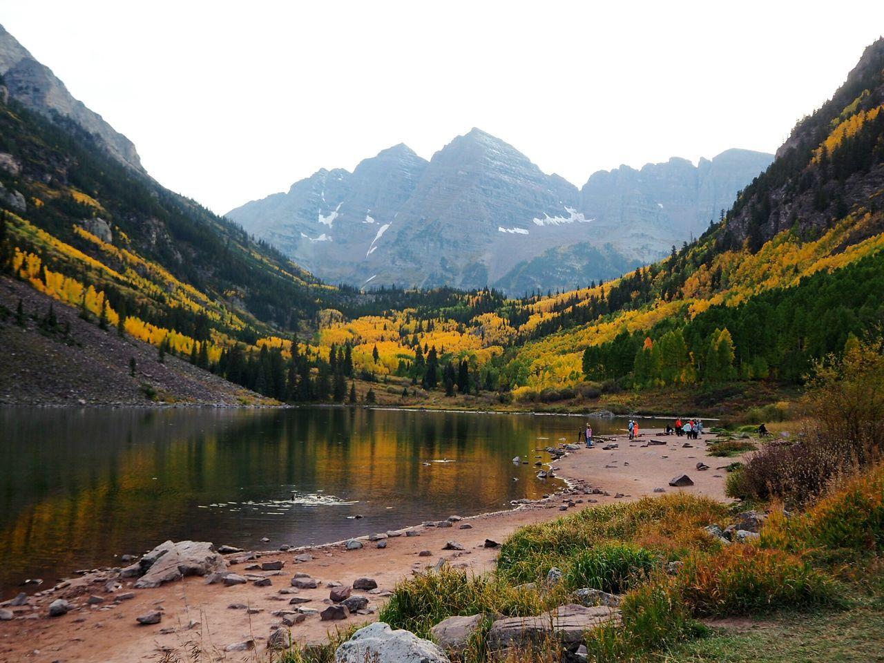 Maroonbells Aspen, Colorado Rocky Mountains Vacation Hiking Mountain Fall