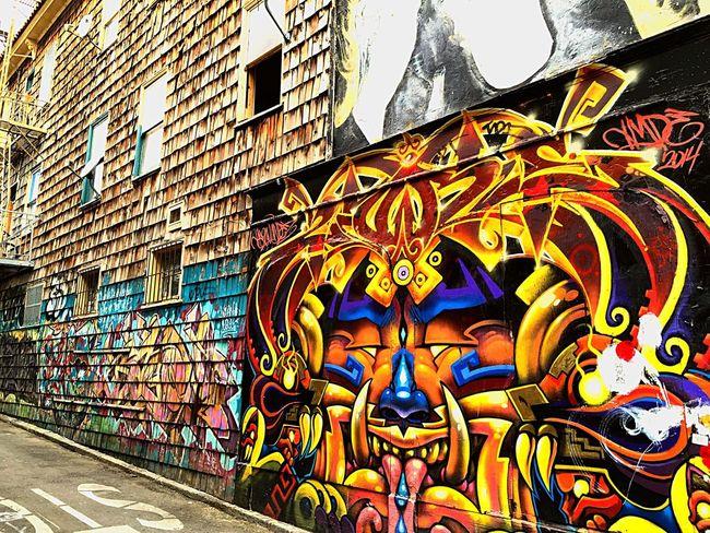 Streets Of San Francisco 16th And Mission Street Street Art/Graffiti Sidewalk Artistic
