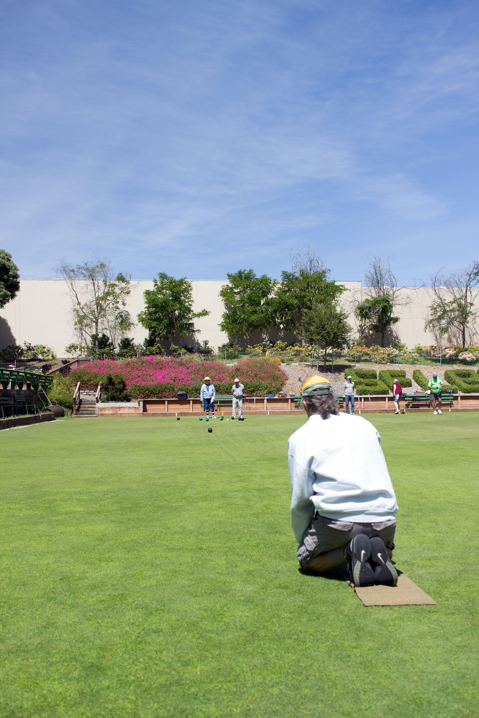 Bowling California Enjoyment Field Fun Golden Gate Park Grass Grassy Green Color Lawn Lawn Bowling Leisure Activity Lifestyles Outdoors People Relaxation San Francisco Sky Sport