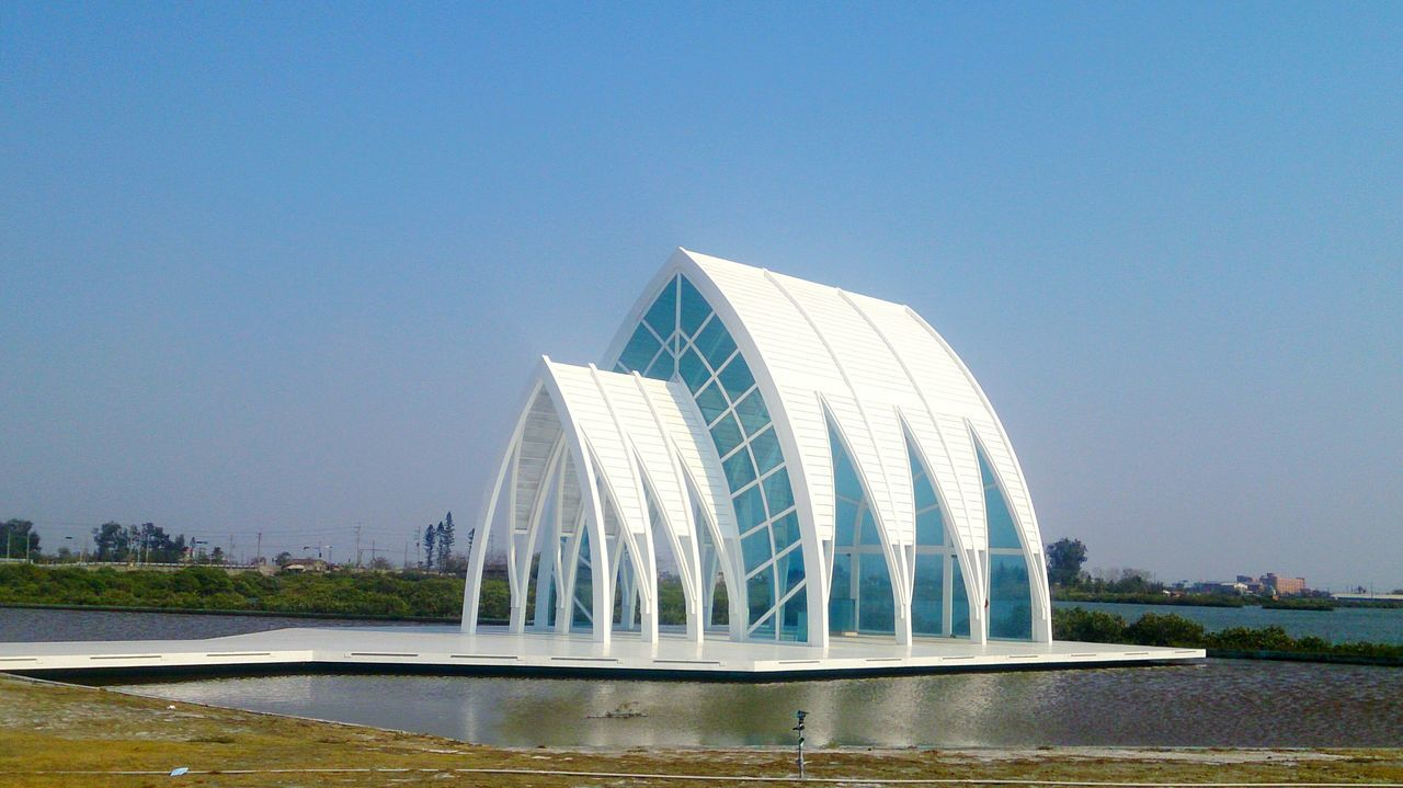 Travel Architecture Travel Destinations Water City Vacations Tourism Taiwan Arts Culture And Entertainment Bridge - Man Made Structure Sky No People Built Structure Scenics Outdoors Skyscraper Urban Skyline Cityscape Day Tainan 北門水晶教堂