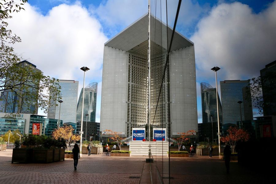 Mirror Silhouette The Graphic City Architecture Building Exterior Built Structure City Cloud - Sky Day Mirror Reflection Modern Outdoors Real People Sky Skyscraper Travel Destinations Tree EyeEmNewHere