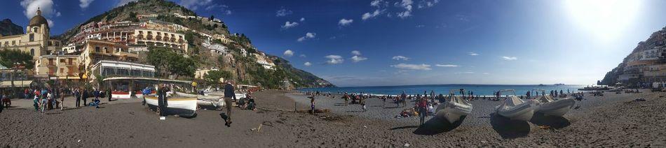 Italy Coastline Positano Coast Campania Beach