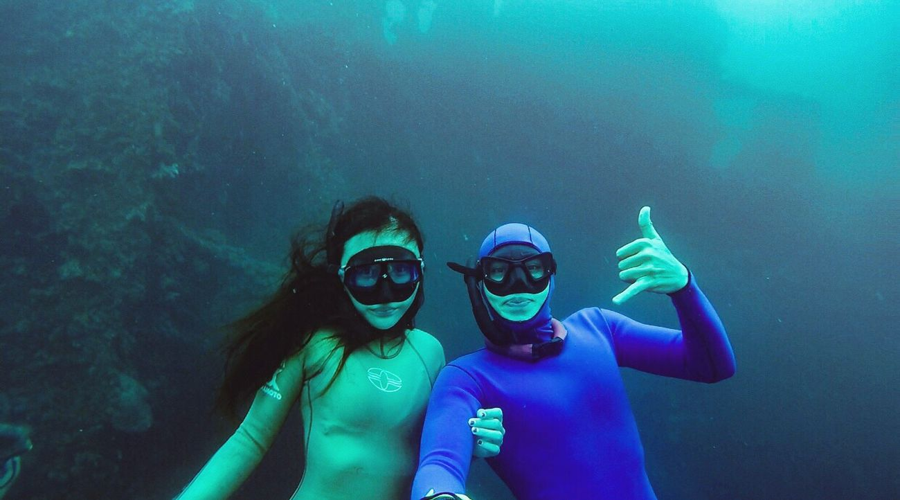 Freediving the shipwreck Bali Tulamben Freedive Underwater Selfi