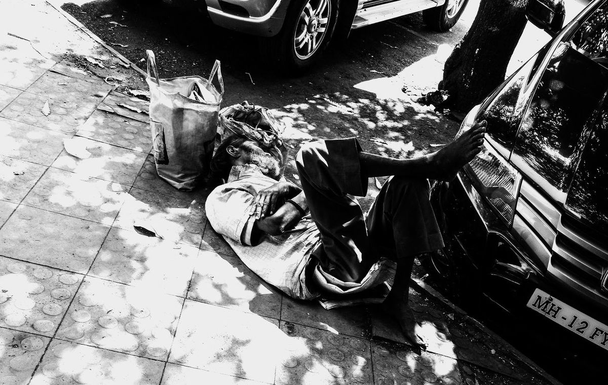 Here Belongs To Me Sleeping Time Hot Afternoon Street Photography People Photography Man On The Street Hard Day Of Work Resting In Shade Sleeping On Street Black And White Photography Monochrome Tired And Sleepy