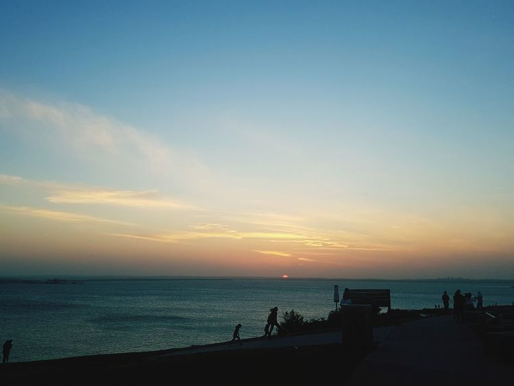 Let him set for the day.. 🌅 Beach Sunset Silhouette Sea Horizon Over Water Sky Water Sand Vacations Summer Sun People Beauty In Nature Cloud - Sky Tranquility Nature Travel Destinations Outdoors Lifestyles Scenics EyeEmNewHere