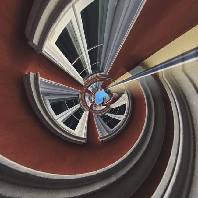 Spiral Staircase Steps And Staircases Close-up Circle Part Of Spiral Design Railing Steps Coil Geometric Shape Full Frame Vibrant Color Spiral Stairs Railings No People Focus On Foreground Architecture Architectural Feature Urban Geometry Urbanphotography Urban Complexity Architectural Geometry