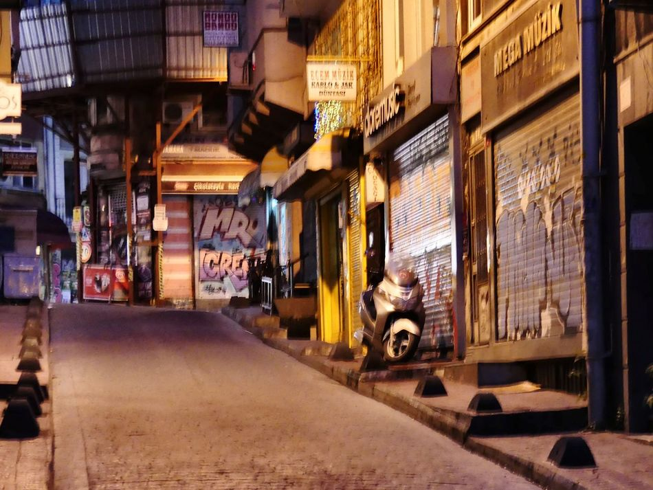 Store Streetphotography Built Structure Architecture Night City Outdoors Building Exterior No People Lonley Street At Night Lonley Lonley Street Vintage Perspective Popular Historic Old Structures Cultures Places Romantic City Lights