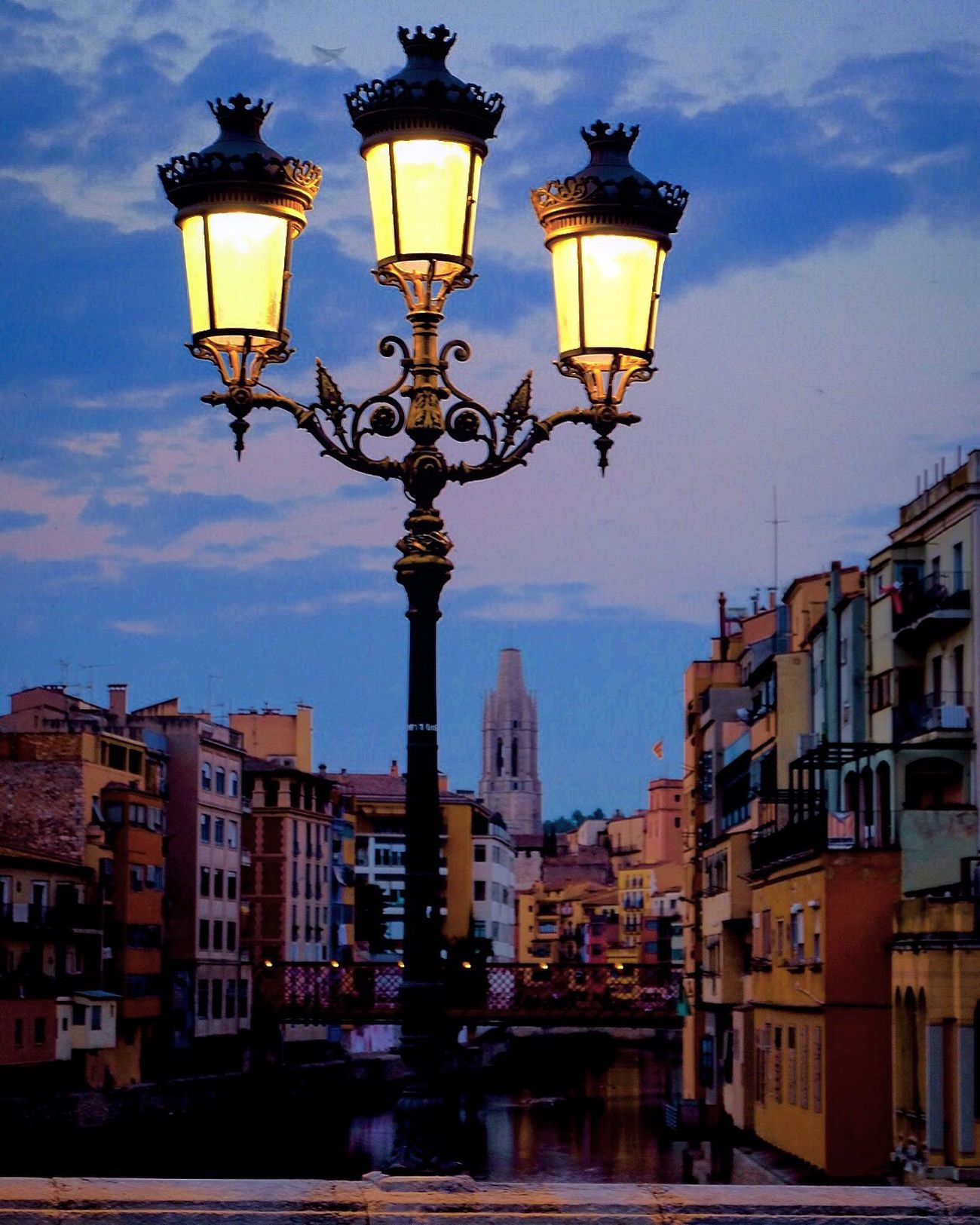 Lighting Equipment Street Light Street Lamp Gas Light Illuminated Architecture Sky Outdoors Building Exterior Electricity  Built Structure No People City Day Fujifilm Myfujifilm Girona Golden Hour