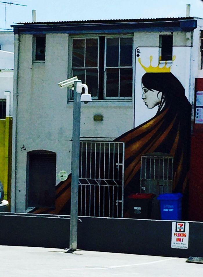 Urban Art Graffitti Graffiti Art Side Street Crown Street Photography Iphoneonly IPhoneography Card Queen Of Diamonds