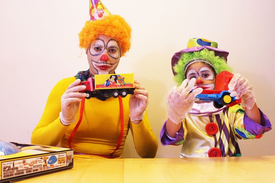 Beautiful stock photos of clown, 35-39 Years, 4-5 Years, Arts Culture And Entertainment, Bonding