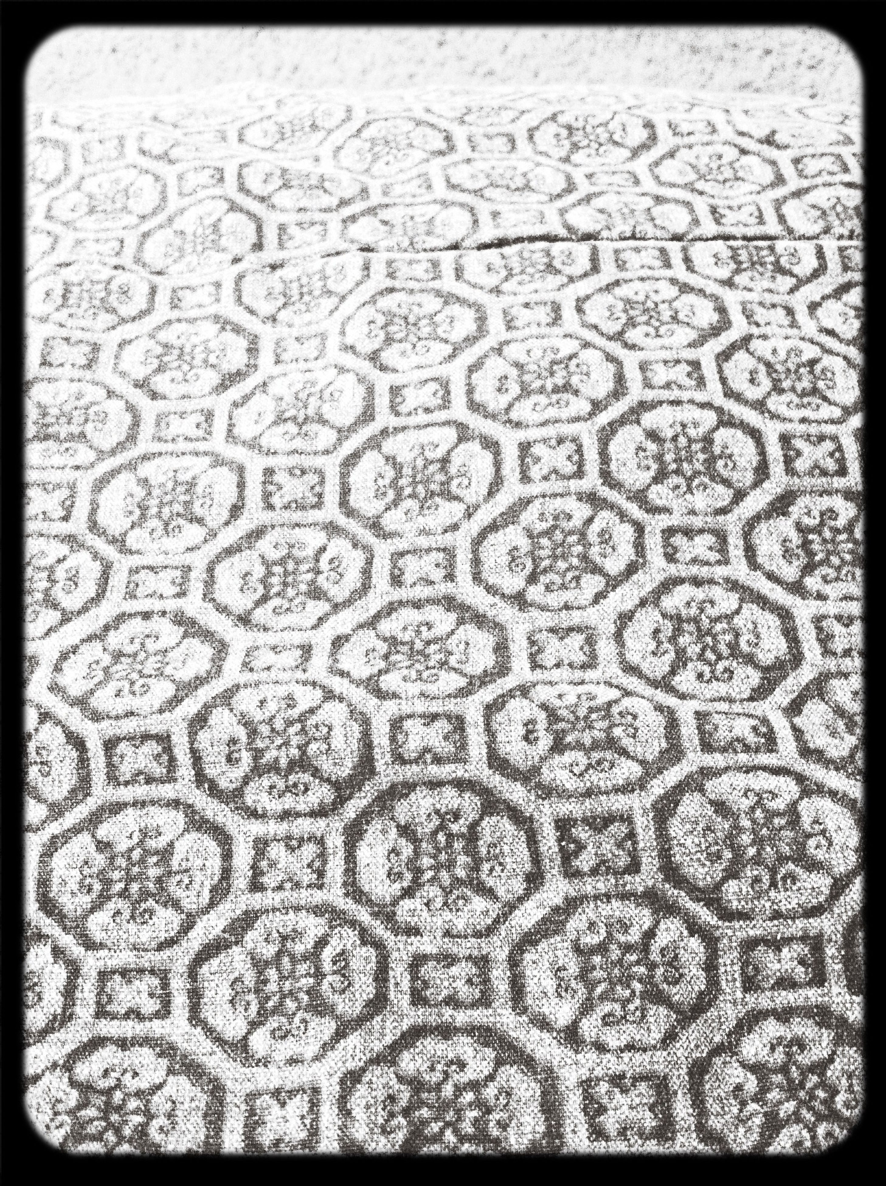 full frame, transfer print, backgrounds, pattern, auto post production filter, textured, indoors, design, high angle view, close-up, no people, detail, geometric shape, day, repetition, abstract, wet, tiled floor, shape