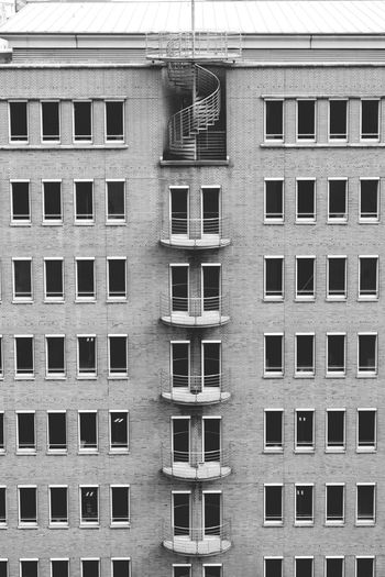 Building Exterior Architecture Window Built Structure Residential Building Outdoors Day Full Frame No People Hamburg Fasada Fassade