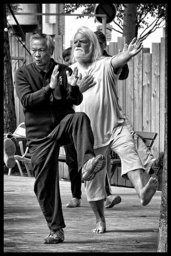 Taï Chi Street Photography Blackandwhite Black & White B&w