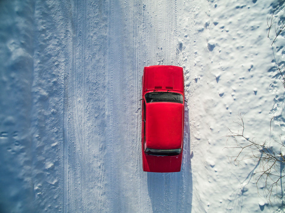 Aerial Auto Car Close-up Day Dji Drift Drone  Forest Nature Outdoors Race Red Road Russia Snow Sport Winter