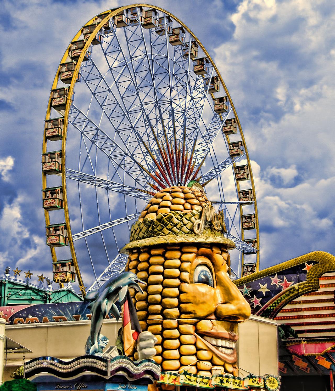 Amusement Park Amusement Park Ride Arts Culture And Entertainment Cloud - Sky Day Ferris Wheel Jahrmarkt Kirmes Outdoors Riesenrad Sky Spaß Travel Destinations Trubel