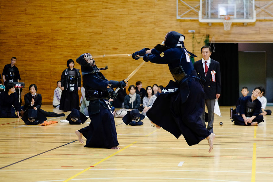 Blurred Motion Budo Front View Indoors  Kendo Men Rear View Selective Focus Sport Sports Sports Photography Swordman Ship The Portraitist - 2016 EyeEm Awards