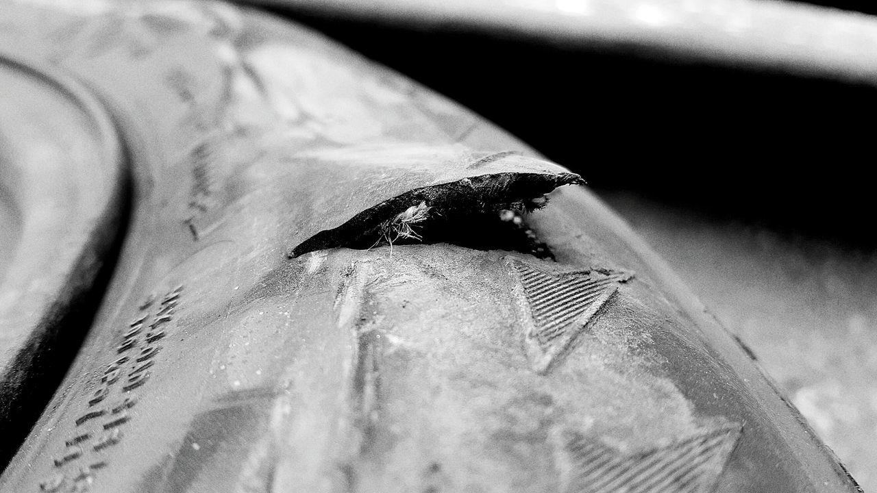 Close-up Wheel Tyre Repair Tyre Repair Hole Puncture Puncture Repair Car Vehicle Damaged Blackandwhite Photography