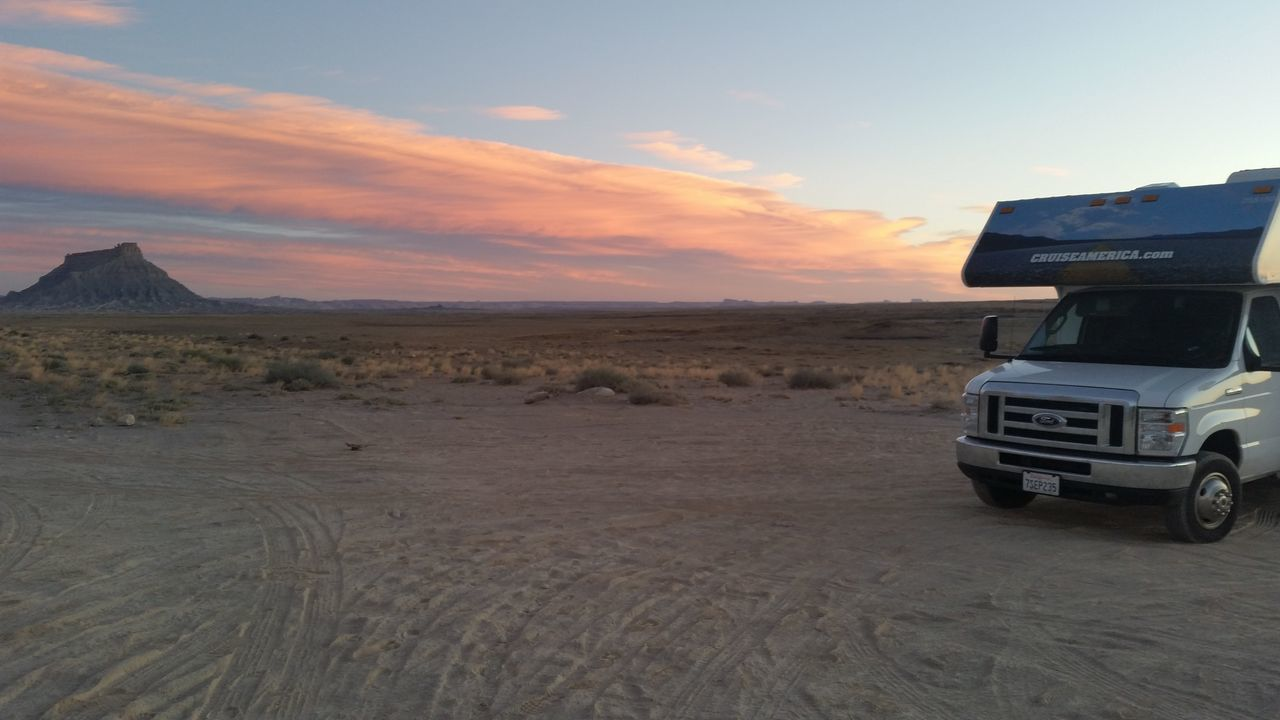 Adventure Cruise America Cruiseamerica.com Desert Outdoors Sunset Transportation Travel Vacation