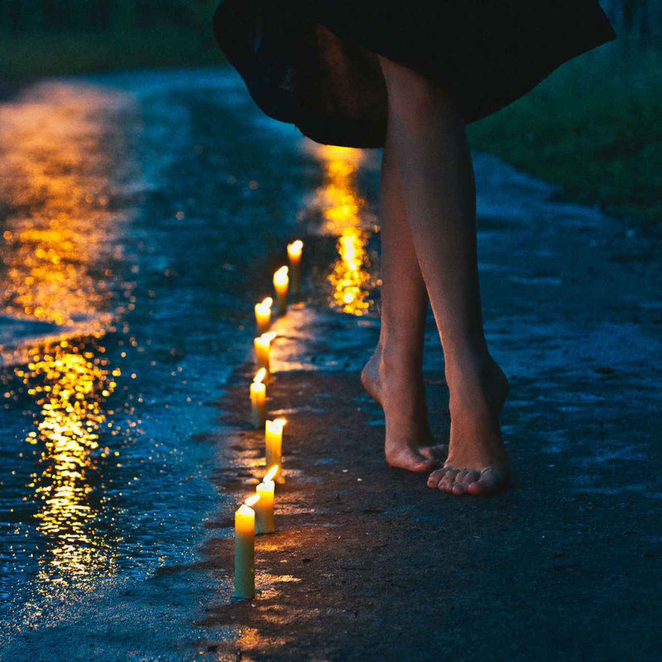 Adult Child Close-up Diwali Human Body Part Human Hand Human Leg Illuminated Low Section Night One Person Outdoors People Real People Standing