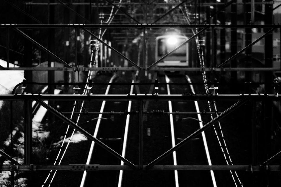 架線 Train Railway Railroad Overhead Wire Telephoto 京王相模原線 Blackandwhite Eyeem Monochrome