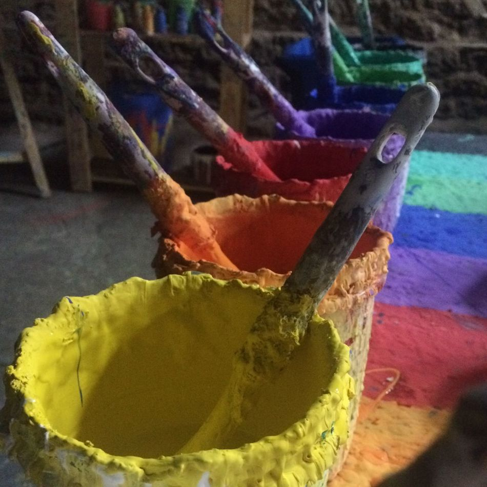 Colours Pallette Different Colours Brush