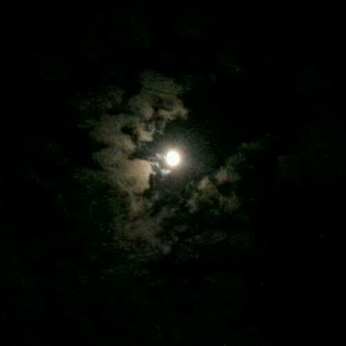 moon in clouds...lovely night Hanging Out