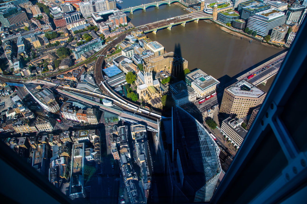 Aerial View Architecture City Cityscape Modern No People Outdoors River Thames River Thames Bank River Thames Skyline Skyscraper Travel Destinations View From The Shard