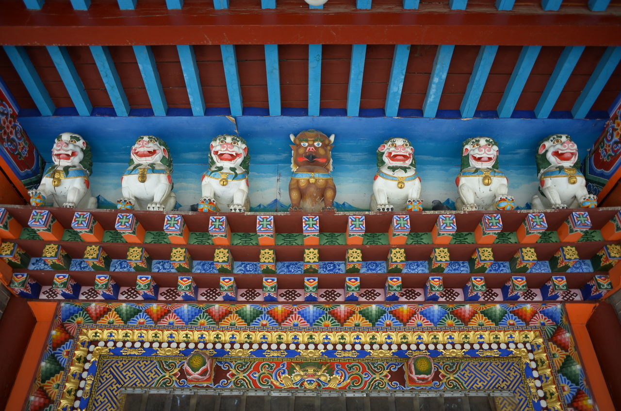 Art And Craft Human Representation No People Religion Multi Colored Day Place Of Worship Statue Indoors  Close-up Nofilter China No Filter, No Edit, Just Photography Temple Art Innermongolia Dazhaosi Buddha EyeEmNewHere