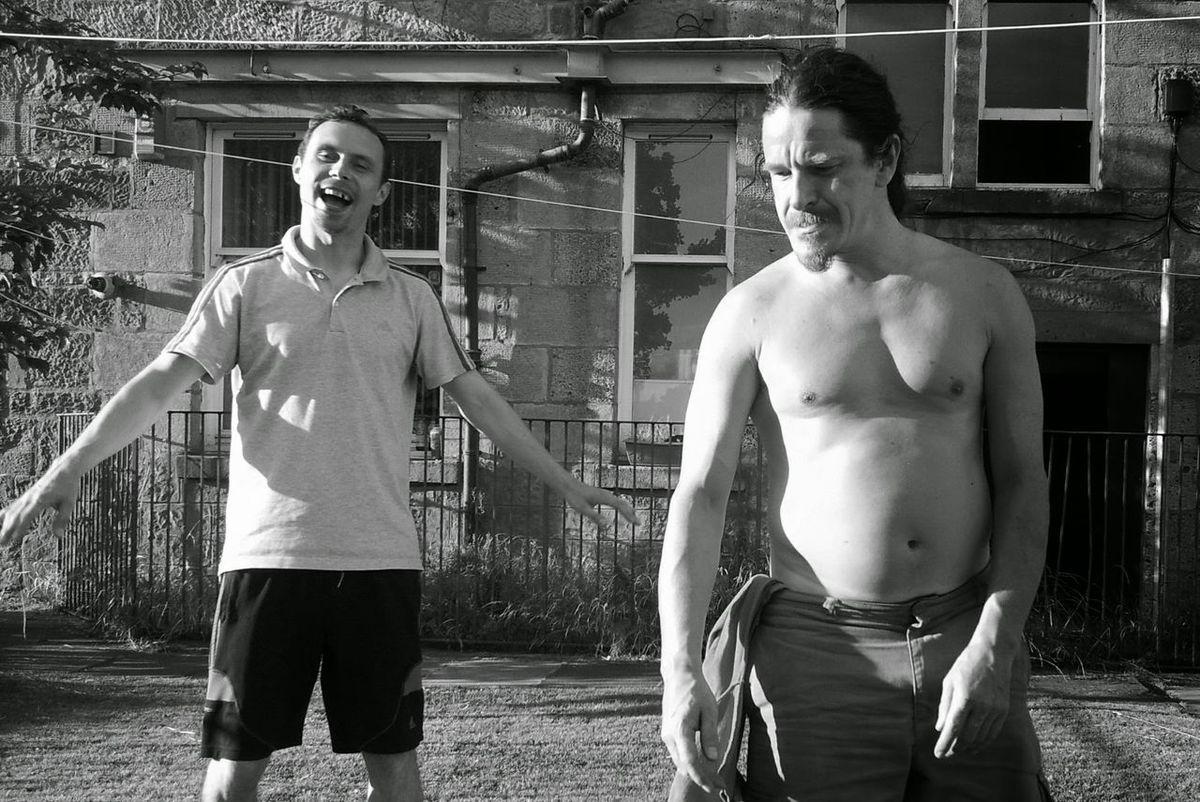 Black & White Portrait Gladiators Joy Anger Defeat Defeated Back Garden Friendship Black And White