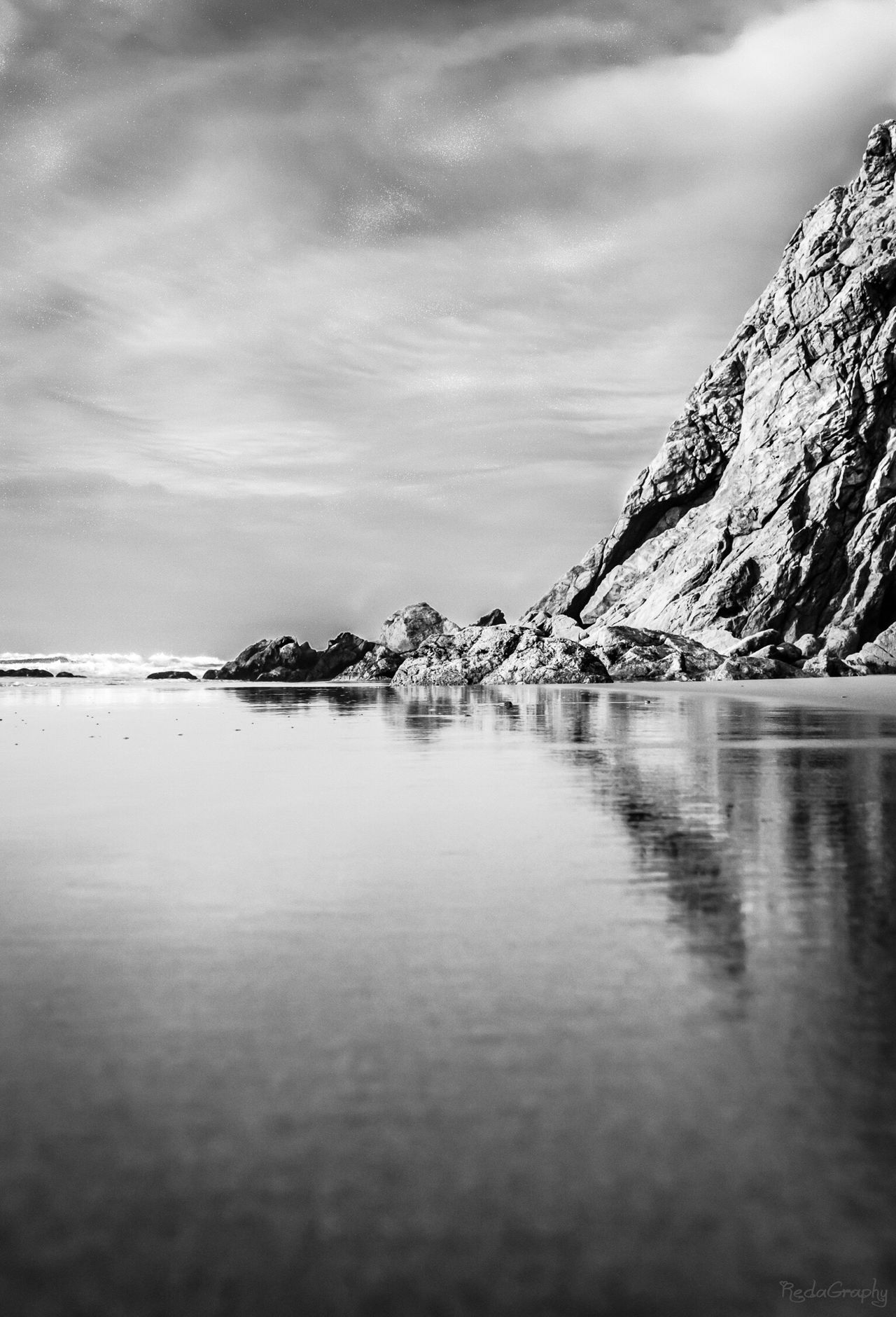 Water Sky Nature Outdoors Blackandwhite Morocco Landscape South Mirleft Agadir Symmetry