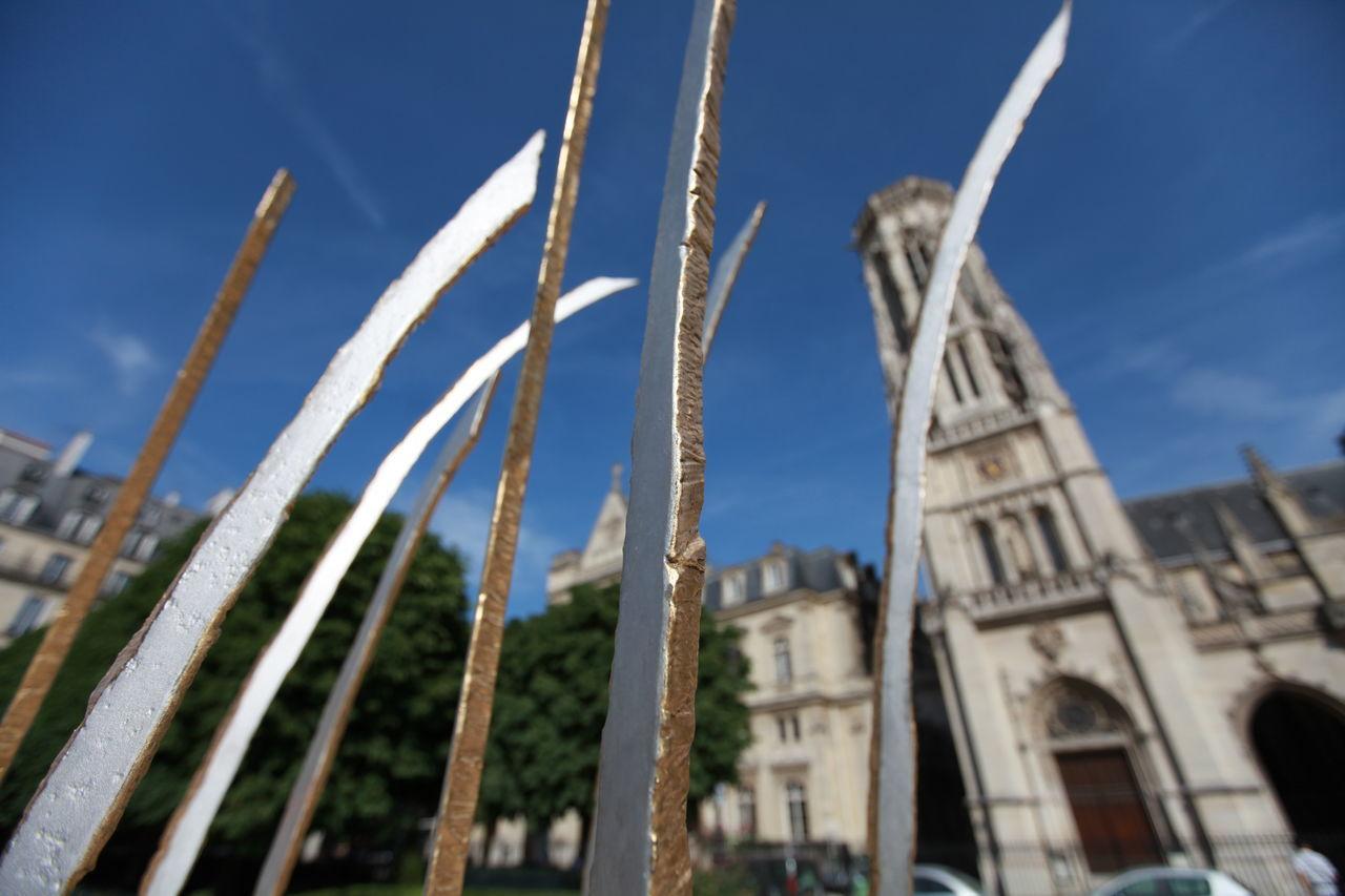 Church High Angle View Paris Steel Unusual