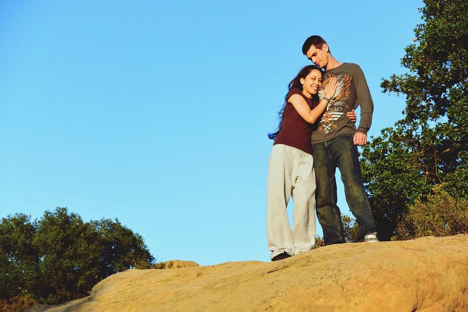 Beautiful stock photos of couples, Arm Around, Blue, Boyfriend, Casual Clothing