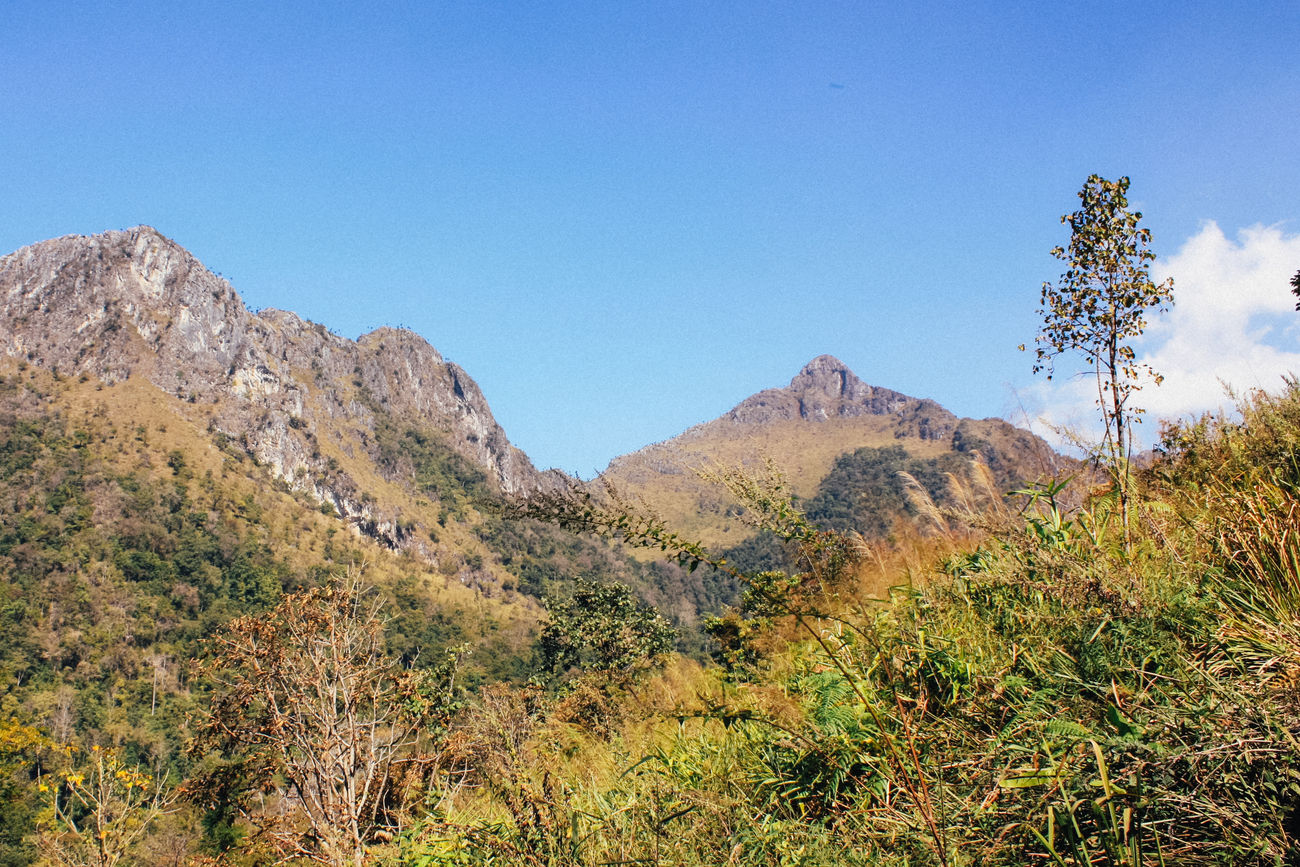Blue Sky Day Doi Luang, Chiang Dao Landscape Mountain Outdoors Sky Trekking