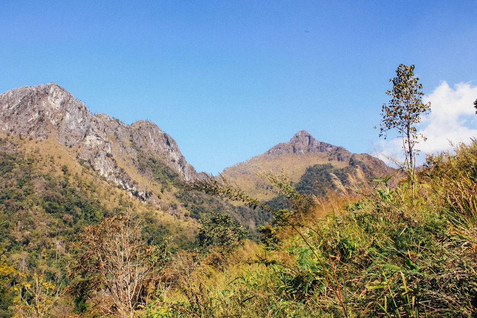 Blue Sky Day Doi Luang, Chiang Dao Landscape Mountain Outdoors Sky Trekking
