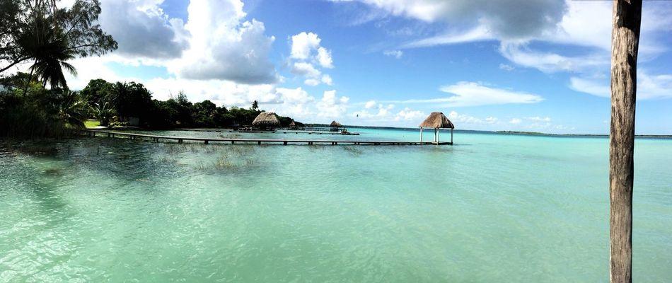 Bacalar Quintana Roo Mexico 2016 Vianeycarre Beautiful Blue Blue Water Blue Sky Incredible
