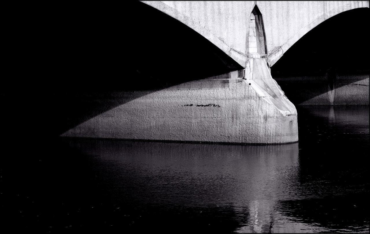 Architecture Landscape Light And Shade Monochrome Remote River Thames Structure Tone Twickenham Bridge