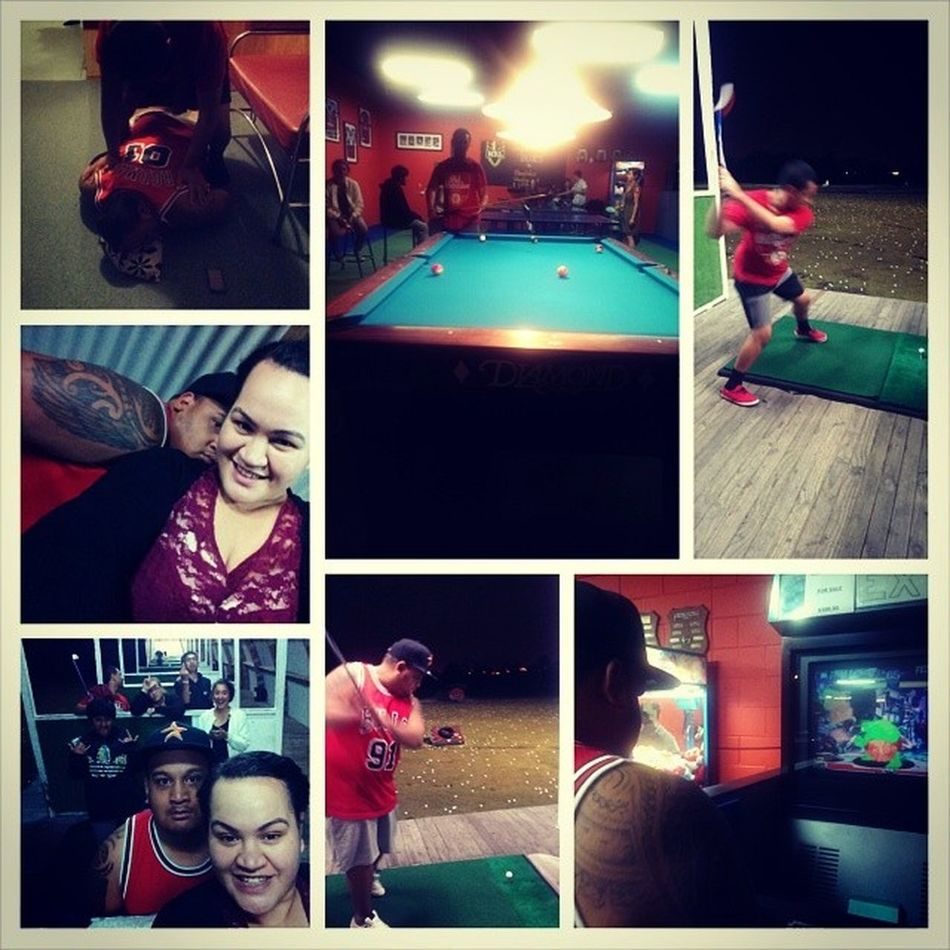 Day14: church, movies, driving range & pool with a bunch of the faves Mainmen LoveThem  Missingmau 37minslate 100happydays