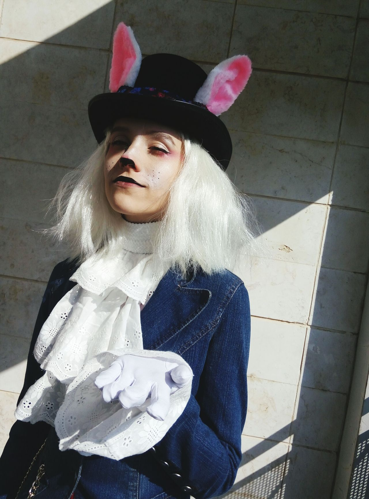 Halloween Day Young Women Young Adult Looking At Camera Front View One Person Portrait One Woman Only One Young Woman Only Art Is Everywhere Alice In Wonderland Aliceinwonderland White Rabbit Costume Party Costumes Costume Makeup Makeupartist Alice In The Wonderland Alice In Wonderland Rabbit The Portraitist - 2017 EyeEm Awards
