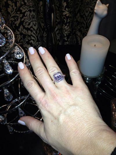 My New Pink Diamond Ring