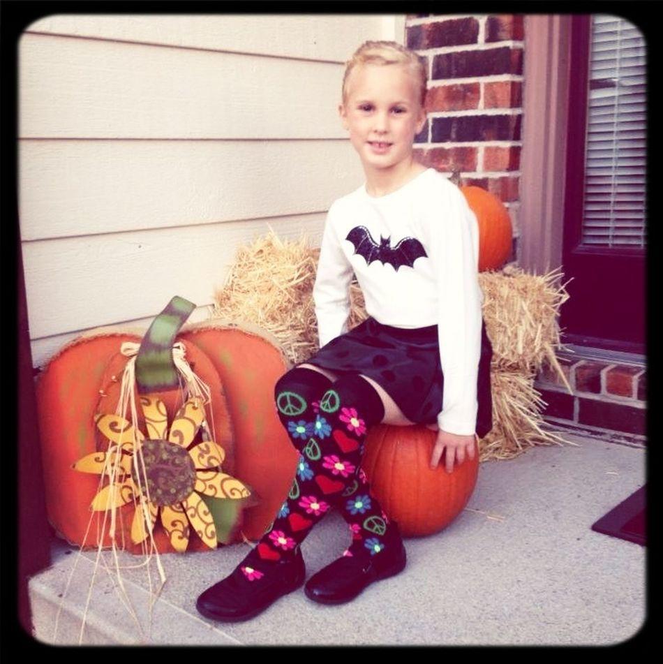 Crazy Sock Day!  Front Porch Pumpkin Autumn