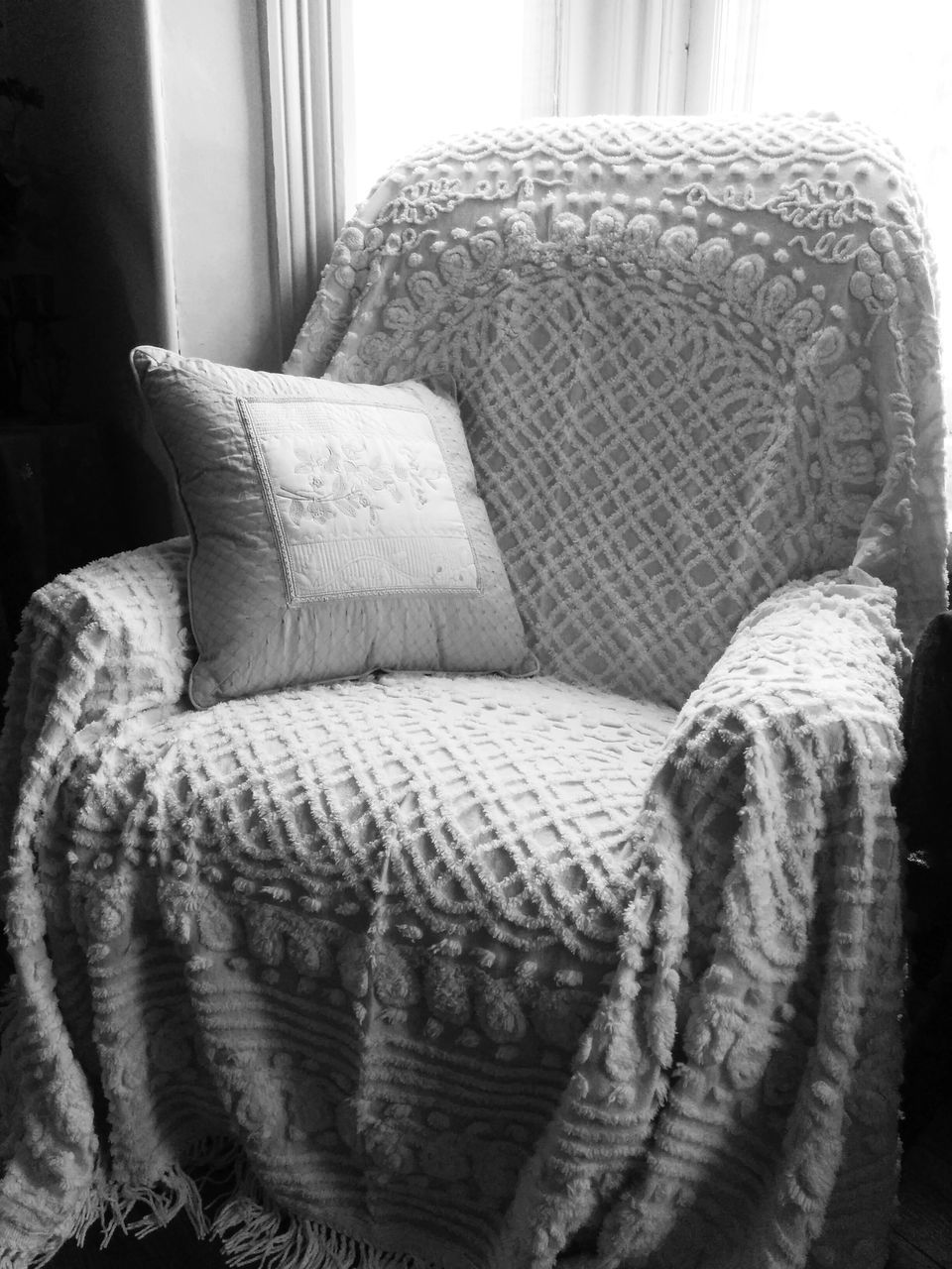 View Of Empty Armchair