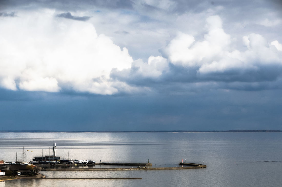 Nida Beauty In Nature Cloud - Sky Lithuania Nature Nida No People Sea Sky Tranquil Scene Water